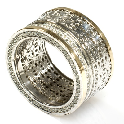 Silber Ring mit Gold